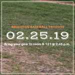 Baseball Tryouts Monday, Feb. 25