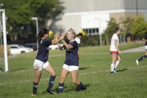 Girls soccer: Fresh/Soph vs East. September 11
