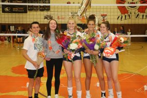 Volleyball beats Skyline, 3-1, on Senior Night