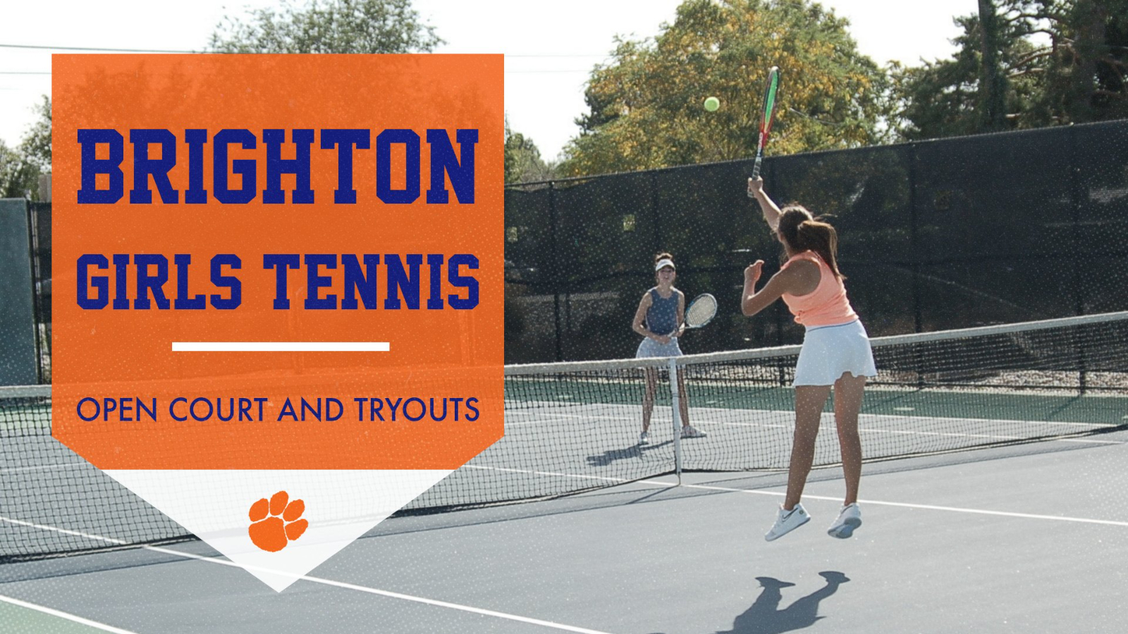 Girls Tennis Open Court and Tryouts