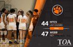 Girls Varsity Basketball falls to Webb 47 – 44