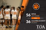 Girls Varsity Basketball beats Columbia Academy 56 – 36