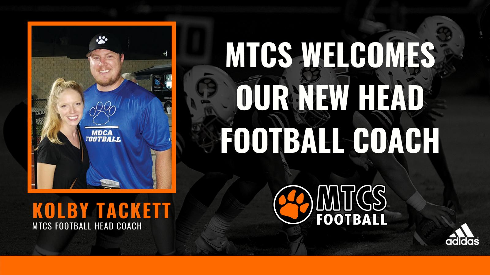 MTCS Names Kolby Tackett Head Football Coach