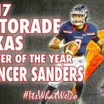 Football: Spencer Sanders 2017 Gatorade Texas Player of the Year