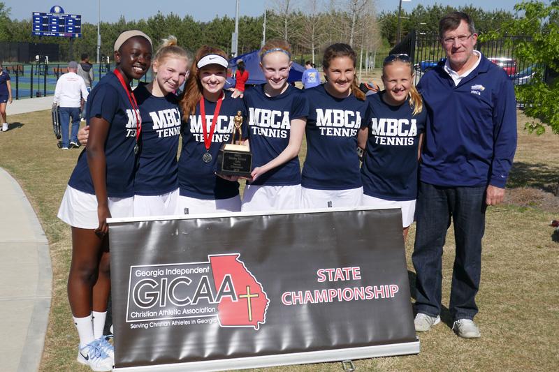 MS Tennis Girls Win GICAA Tournament