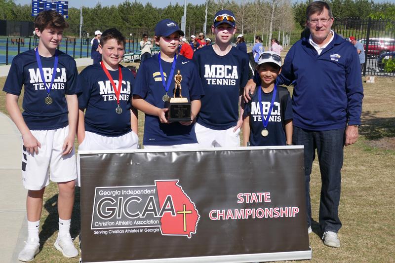 MS Tennis Boys Win GICAA Tournament