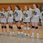 MS A Girls VB Celebrates 8th Grade Ladies