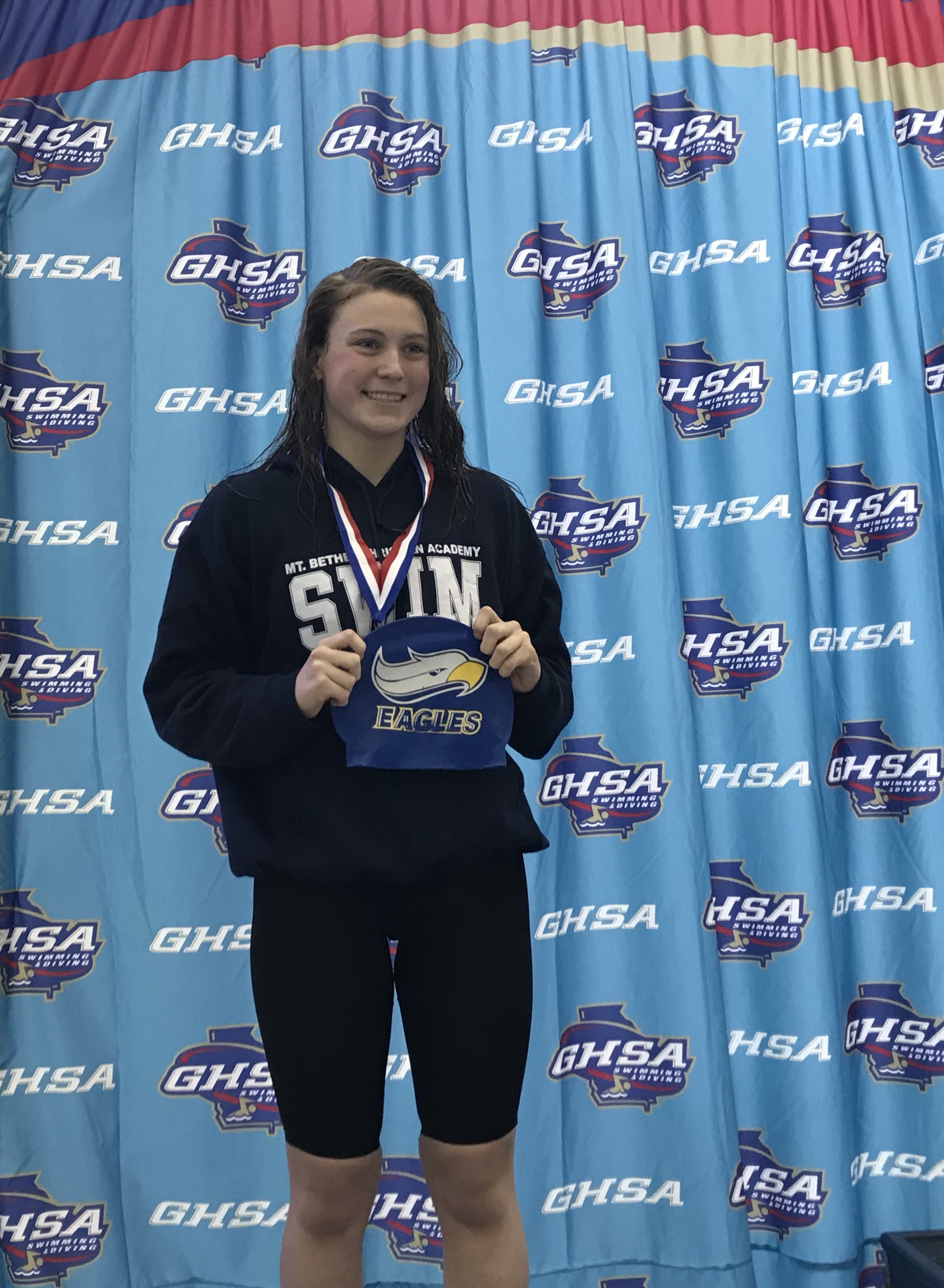 Hampton Gucky Takes Backstroke 3rd at GHSA State Meet