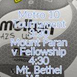 GAMEDAY: B Team Volleyball Hosts Metro 10 Semis