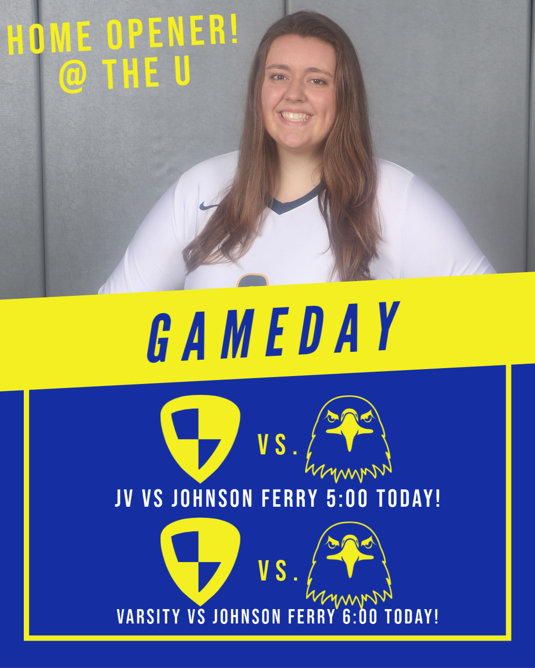 Volleyball Home Opener Today Versus Johnson Ferry