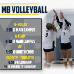 All Volleyball teams in action today!
