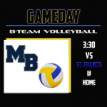B-Team Volleyball plays at Home!