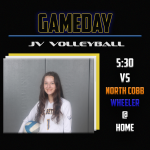 JV Volleyball hosts both Wheeler and North Cobb!