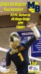 Varsity Volleyball: Mt. Bethel faces Kings Ridge in Region Tournament Opener