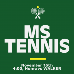 MATCH DAY: Middle School Tennis Hosts Walker