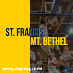 Game Day: Hoops Host St. Francis