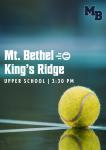 MATCH DAY: Varsity Tennis Hosts King's Ridge