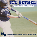GAME DAY: Baseball Battles The King's Academy