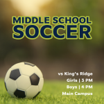 MATCH DAY: MS Soccer Hosts King's Ridge