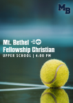 MATCH DAY: Varsity Tennis Hosts Fellowship