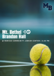 MATCH DAY: Varsity Tennis Battles Brandon Hall