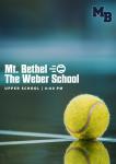 MATCH DAY: Varsity Tennis Hosts The Weber School