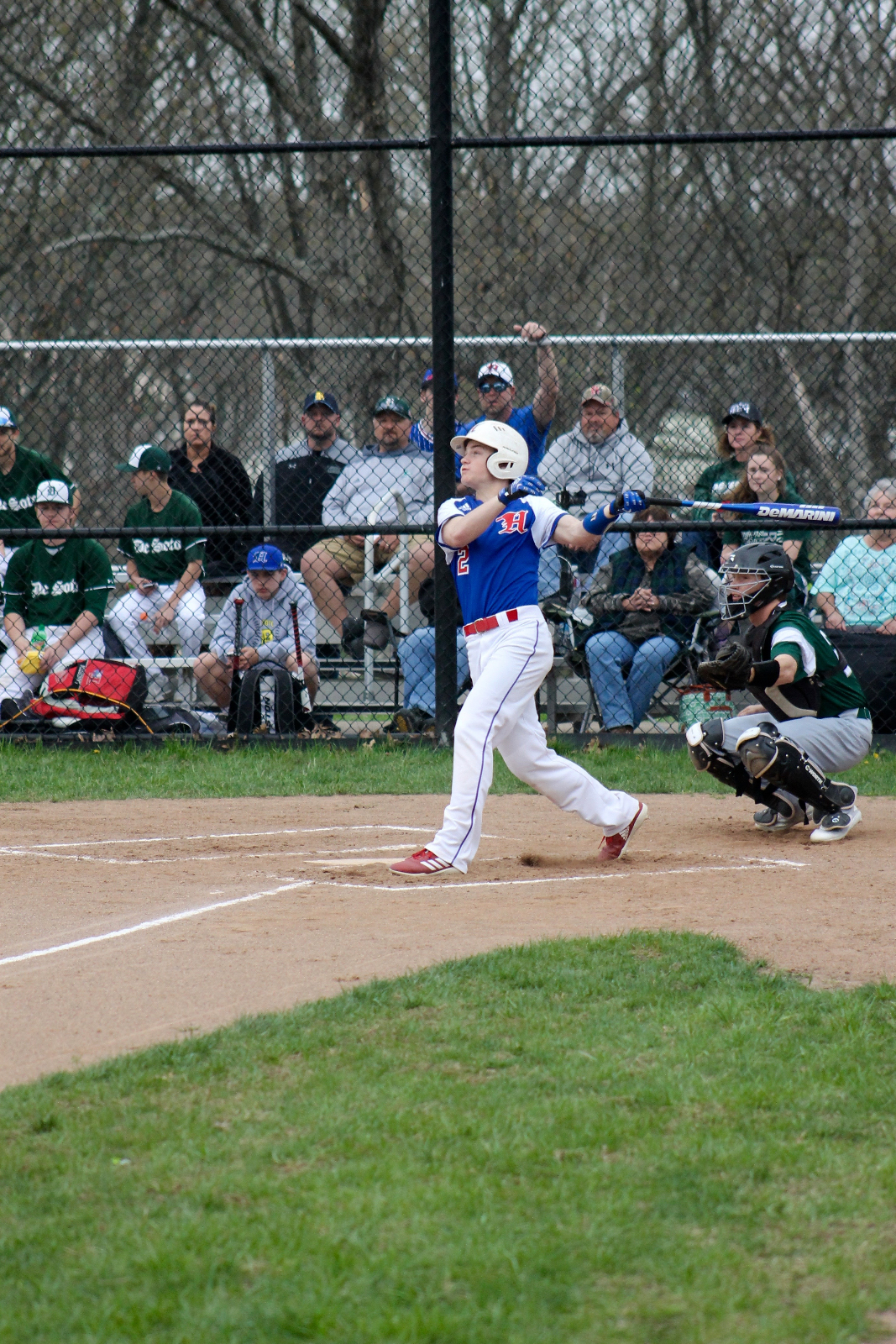 Varsity Hawks Have No Problems With St. Mary's, Winning in Five Innings