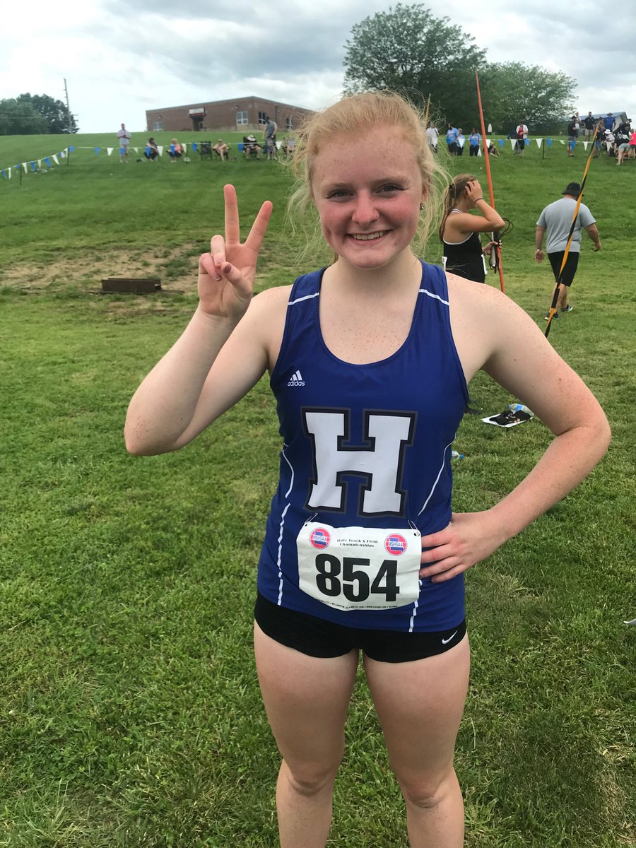 Halle Roland Finishes Second at State in the Javelin