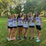 Hawks' Girls Cross Country Team Has Six Medalists at Webster Invitational