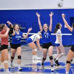 Varsity Hawks Frustrate Jefferson in Two-Set Volleyball Victory