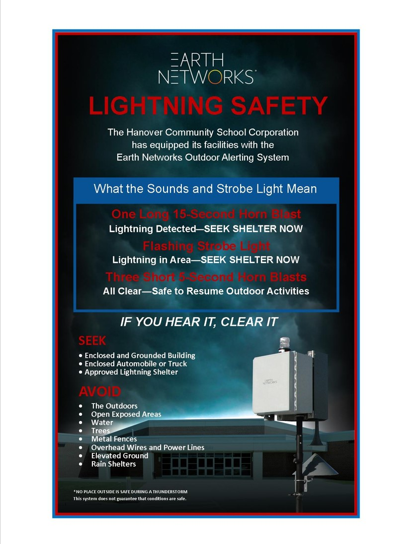 New Lightning Safety System Installed