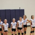 Girls 7th Grade Volleyball beats Whiting Middle School 2 – 0