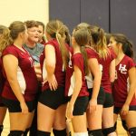 Girls 8th Grade Volleyball falls to Union Township Middle School 0 – 2