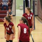 Girls 8th Grade Volleyball falls to St. John Evangelist 2 – 0