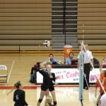 Girls Varsity Volleyball beats Bishop Noll Institute 3 – 0