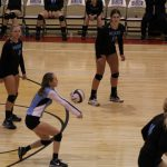 Girls Varsity Volleyball beats Griffith 3 – 0
