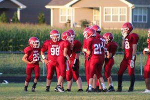 MS Football vs. Boone Grove  9/19/17
