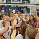 Girls 7th Grade Volleyball beats Hebron Jr/sr 2 – 0