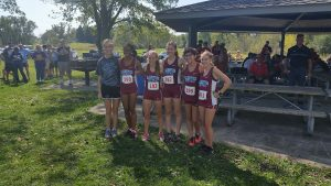 Boys and Girls Cross Country at IHSAA Sectional  10/7/17