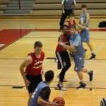 Boys Varsity Basketball falls to Portage High School – Scrimmage 87 – 57