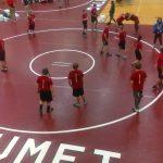 Boys Middle School Wrestling beats Hebron 66 – 33
