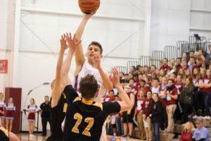 Varsity Boys Basketball vs. Kouts (SR Night – Gallery 2 of 3)  2/16/18