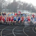 Girls Middle School Track finishes 2nd place at Kankakee Valley Middle School/north Judson Middle School @ Hanover Central Middle School