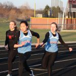 Girls Varsity Track finishes 1st place at North Newton / Rensselaer Central /Gary West Side @ Hanover Central High School