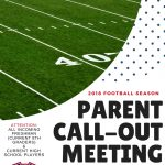 REMINDER:  Hanover Central HS Football – Parent and Player Call-Out Meeting  5/14/18