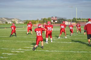 MS Football 10/2 vs. Wheeler (8th grade recognition night)