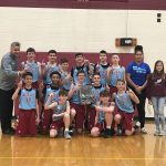 The boys 7th grade wins conference tournament 64-26