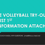 VOLLEYBALL TRY-OUTS!