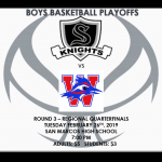 Boys Basketball Playoffs – Round 3!!!!