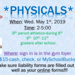 Mass Physicals May 1st 2019